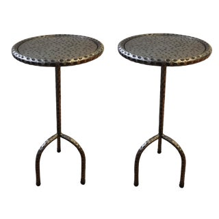 Industrial Abc Home & Carpet Accent Tables - a Pair For Sale