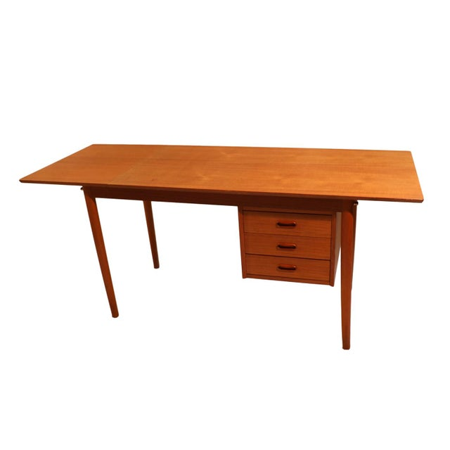 Arne Vodder Mid-Century Danish Teak Drop Leaf Desk - Image 9 of 10