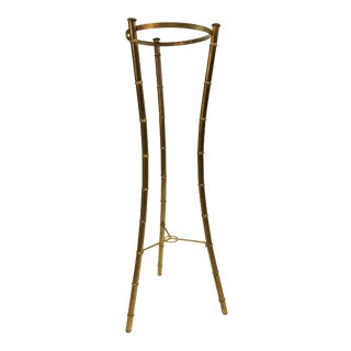 Vintage Hollywood Regency Faux Bamboo Plant Stand