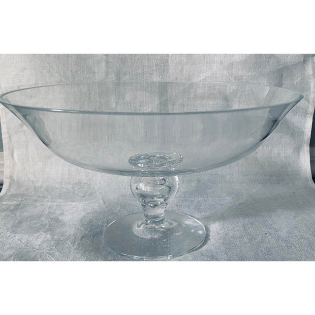 """This is a marked Tiffany and Co crystal pedestal bowl or epergne. Dimensions are 10"""" diameter and 5.5"""" tall. Excellent..."""