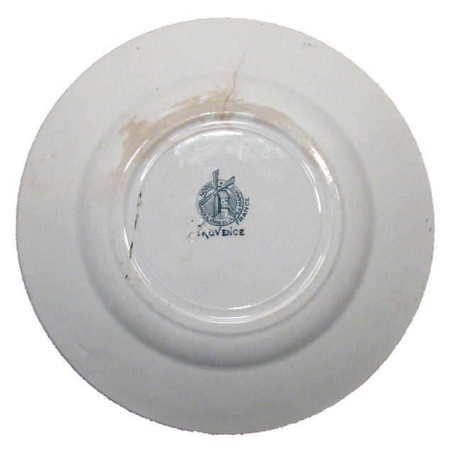 Ceramic French & English Green Transferware Collection, S/3 For Sale - Image 7 of 7
