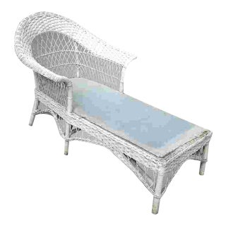 C. 1920 Wicker Chaise Lounge For Sale