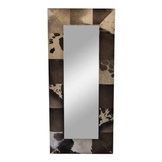 Cowhide Floor or Wall Mirror** For Sale