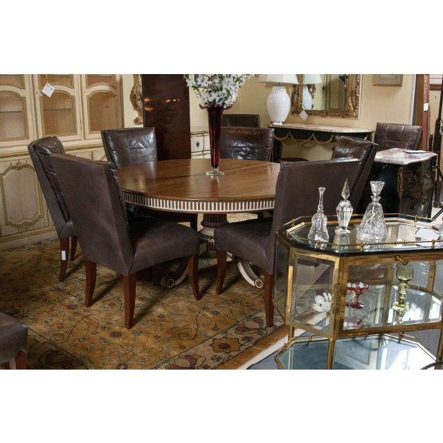 Swedish Mahogany Top Dining Table - Image 3 of 7