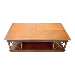Traditional Angelo Cappellini Coffee Table W/ Neoclassical Details
