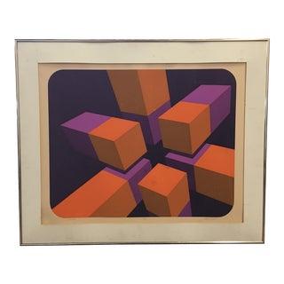 1970s Marko Spalatin 'Module Xi' Lithograph For Sale
