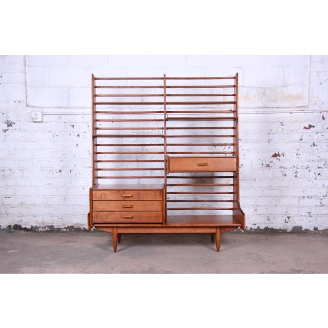 Danish Modern Leslie Diamond for Conant Ball Norsemates Room Divider or Wall Unit, 1950s For Sale - Image 3 of 13