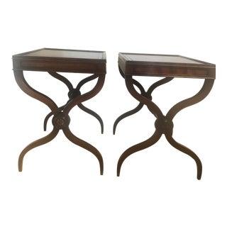1950s Hollywood Regency Heirloom Weiman Cross Legged End Tables - a Pair For Sale