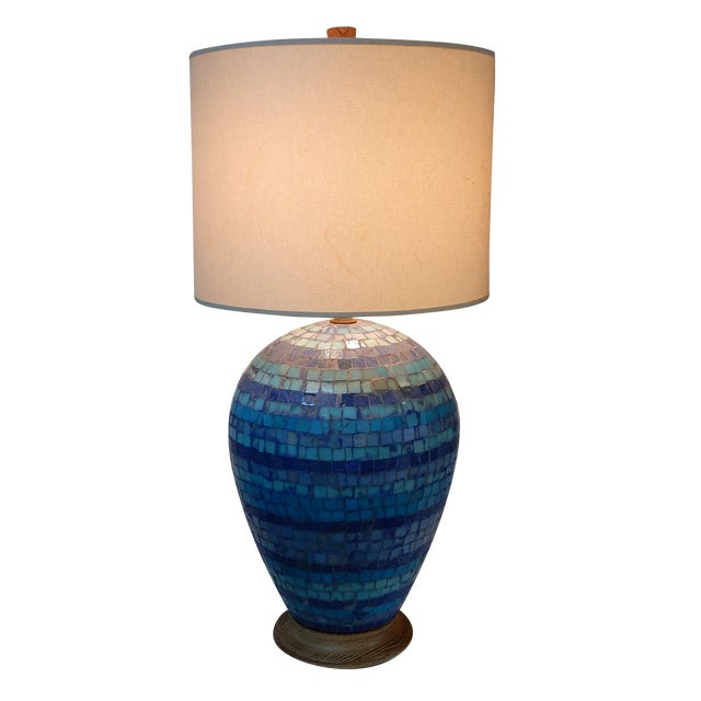Mid Century Mosaic Table Lamp by Fisher - Image 1 of 8