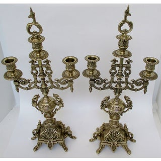 Tall Brass Candelabra - a Pair Preview