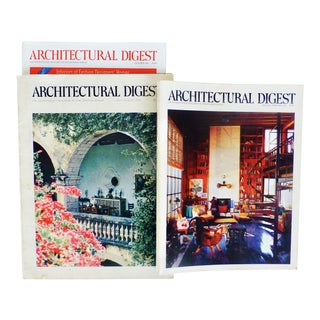 "Vintage ""Architectural Digest"" Books - Set of 3"