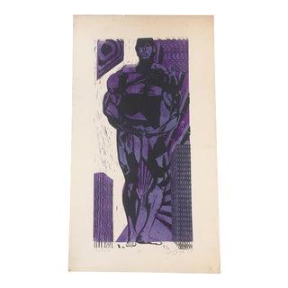"Vintage Original "" Pure Muscle"" Lithograph For Sale"