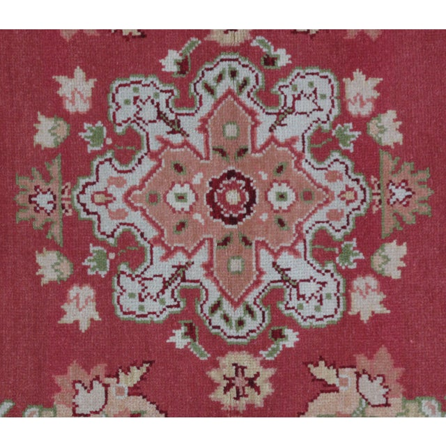 Turkish Oushak Design Hand Woven Wool Rug - 4' X 6' - Image 2 of 5
