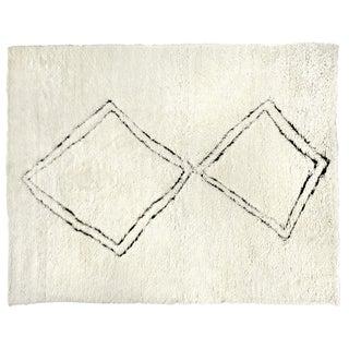 "Weighton Hand loom Wool Ivory/Black Rug-10'x14"" For Sale"