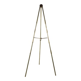 Vintage Adjustable Brass Easel For Sale