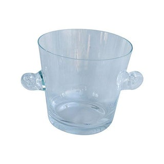 Tiffany Co. Glass Champagne Wine Chiller Bucket For Sale