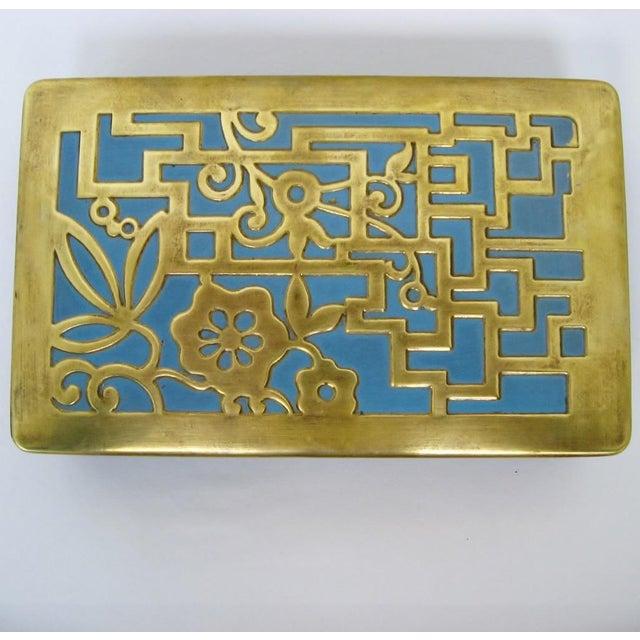 Vintage German Brass & Enamel Box - Image 3 of 6
