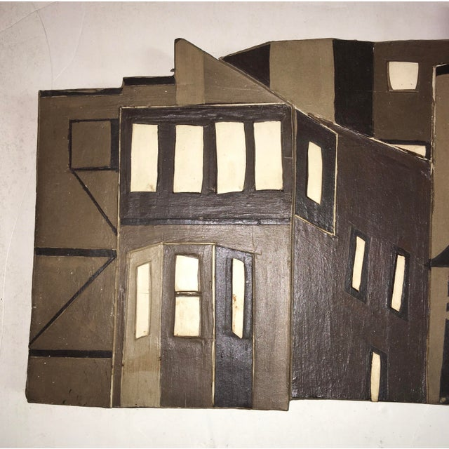 Original Hand Made Ceramic Wall Sculpture Circa 1972 For Sale - Image 4 of 9