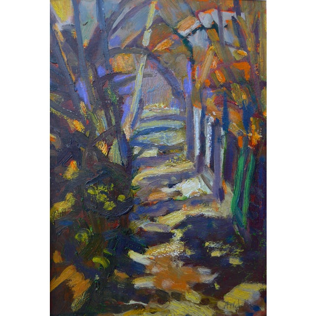 """Path in the Woods"" Original Painting - Image 7 of 7"
