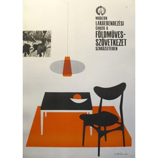 Original Hungarian Swinging 60's Furniture Poster Preview