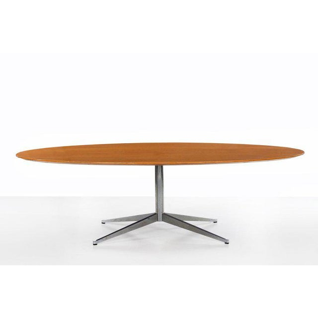 Brown Florence Knoll Dining Table or Desk For Sale - Image 8 of 8