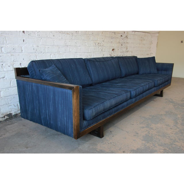 Milo Baughman Style Mid-Century Modern Floating Sofa For Sale - Image 5 of 11