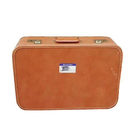 1950's Leather Suitcase Trunk - Image 1 of 5