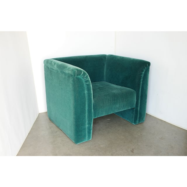 Vintage Blue- Green Mohair Club Chairs - a Pair For Sale - Image 11 of 12