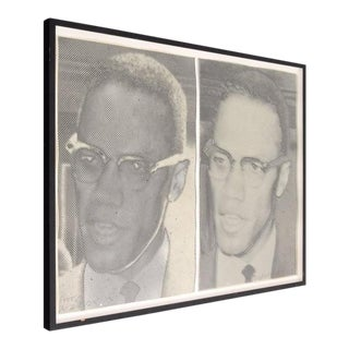 "Joe Tilson ""Malcolm X"" Screen-Prints"
