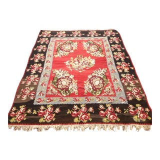 Vintage Karabag Kilim Rug - 8′5″ × 10′11″ For Sale