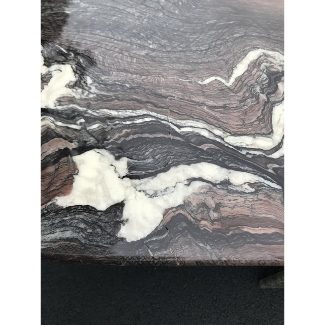 Maroon Italian Sculptural Marble Coffee Table For Sale - Image 8 of 13