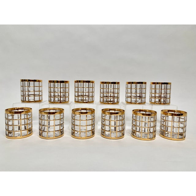 Imperial Glass Toril De Oro Rocks Cocktail Glasses - Set of 12 For Sale - Image 4 of 12