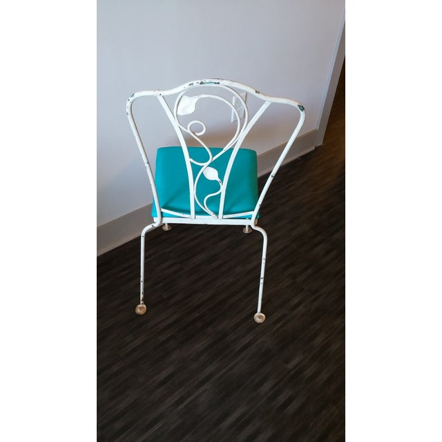 Salterini Magnolia Group Iron Chairs - Set of 4 For Sale In Charlotte - Image 6 of 8