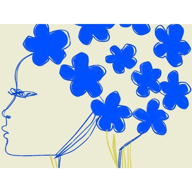 "Annie Naranian ""Nina Ricci Blue Fleur"" Limited Edition Print by Annie Naranian For Sale - Image 4 of 4"