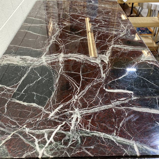Stone Monumental Marble Dining or Desk Table For Sale - Image 7 of 13