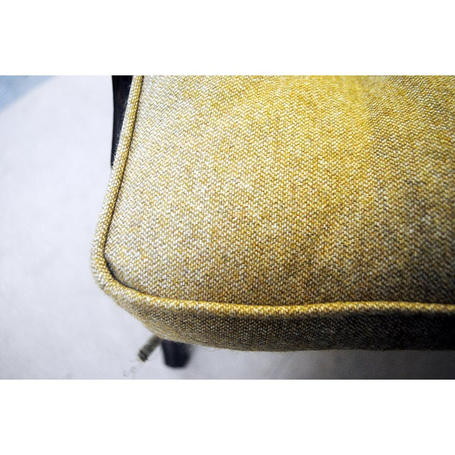 Textile Pair of Two Lounge Chairs by Ezio Longhi 1950's, New Upholstery For Sale - Image 7 of 9