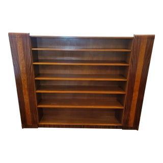 1930s 6-Shelf Rosewood Veneer Shelving Unit For Sale