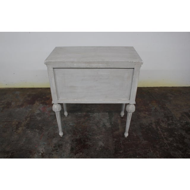 Mid-Century Modern 20th Century Swedish Gustavian Style Nightstands-A Pair For Sale - Image 3 of 8