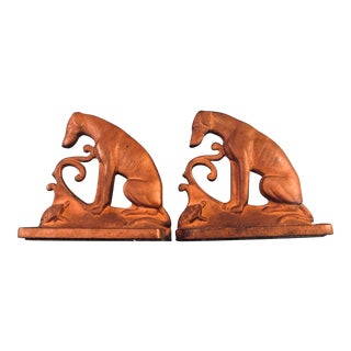 1920s Dog Looking at Turtle Bookends - a Pair For Sale