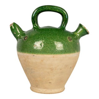 19th Century French Glazed Terracotta Pottery Vinaigrier For Sale