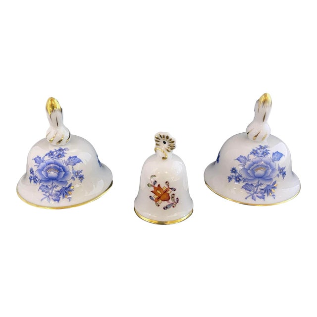 Herend Porcelain Miniature Bells - Set of 3 For Sale