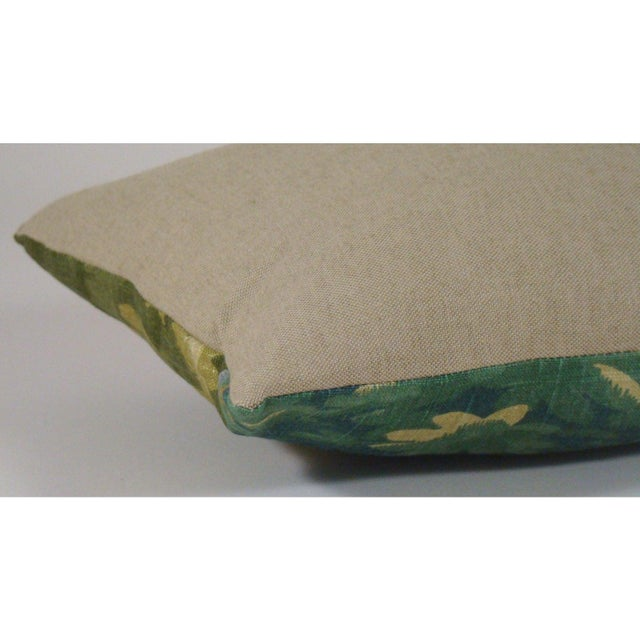 Verdure Print Linen Lumbar Pillow Cover For Sale In Milwaukee - Image 6 of 9