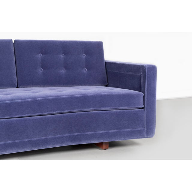 Blue Pair of Harvey Probber Curved Sofas For Sale - Image 8 of 10