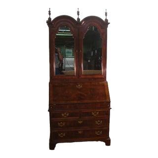 Traditional Henredon Aston Court Burl Wood Secretary Desk For Sale