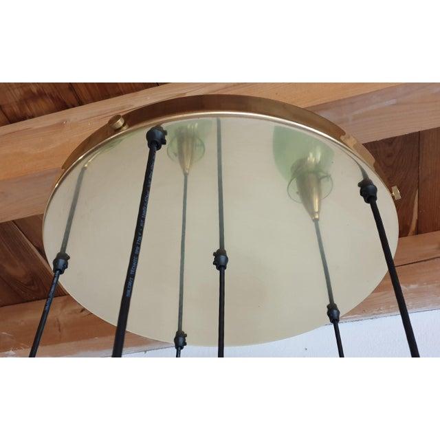Italian Mid-Century Modern Brass & Glass Flush Mount, Arredoluce For Sale - Image 12 of 13