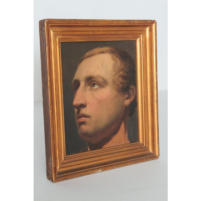 A beautifully painted realistic portrait of a young man with blond hair. The artist is Willem Hendrik Schmit (1809-1849,...