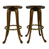 Image of Vintage Bar Stools- A Pair For Sale