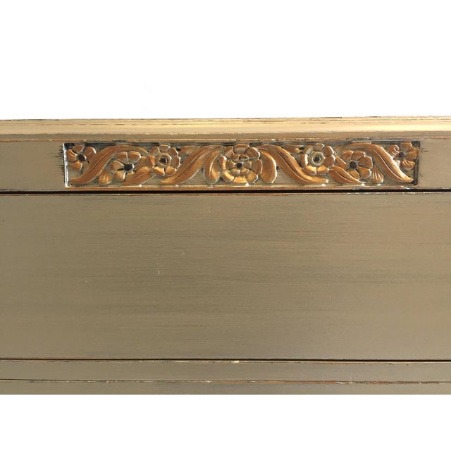 Art Deco Rway Vintage 1930s Metallic Chest of Drawers For Sale - Image 10 of 11