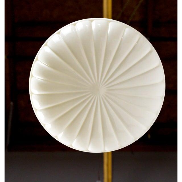 Molded Milk Glass Pendant Light For Sale In San Francisco - Image 6 of 8