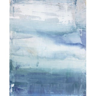 """Julia Contacessi """"Solar Tide"""" Abstract Contemporary Mixed Media Painting For Sale"""